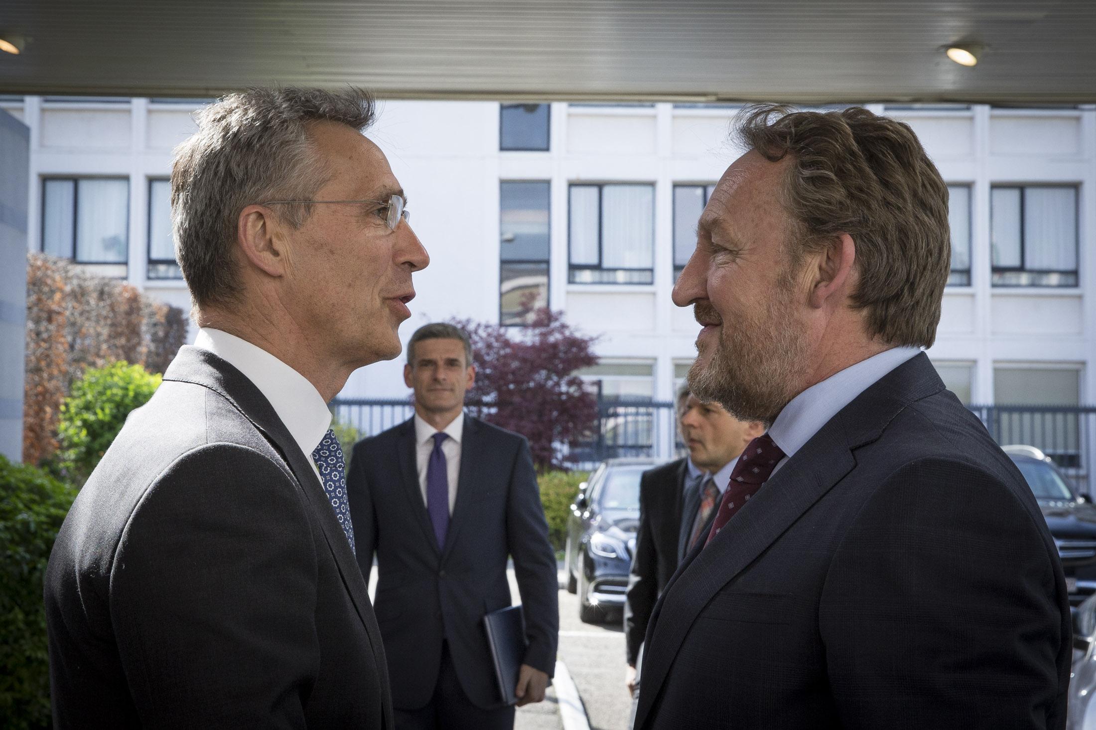 The Chairman of the Presidency of Bosnia and Herzegovina, Bakir Izetbegovic visits NATO and meets with NATO Secretary  General Jens Stoltenberg
