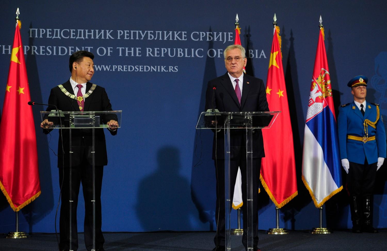 Tomislav Nikolić i Si Đinping na konferenciji za medije (Foto: Tanjug/Tanja Valič)
