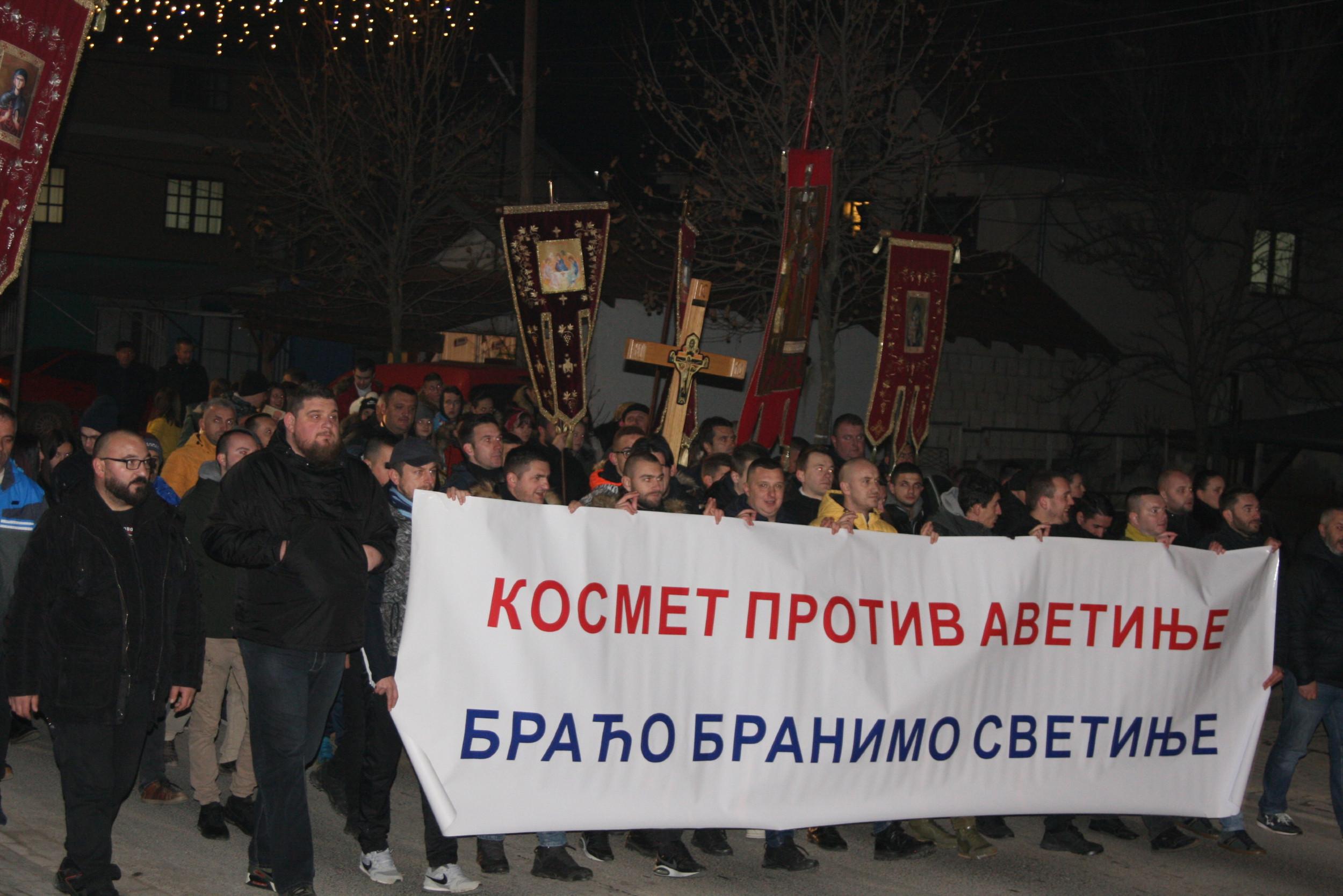 Литија у Грачаници за подршку Србима у Црној Гори, 09. јануар 2020. (Фото: Јања Гаћеша/Нови Стандард)