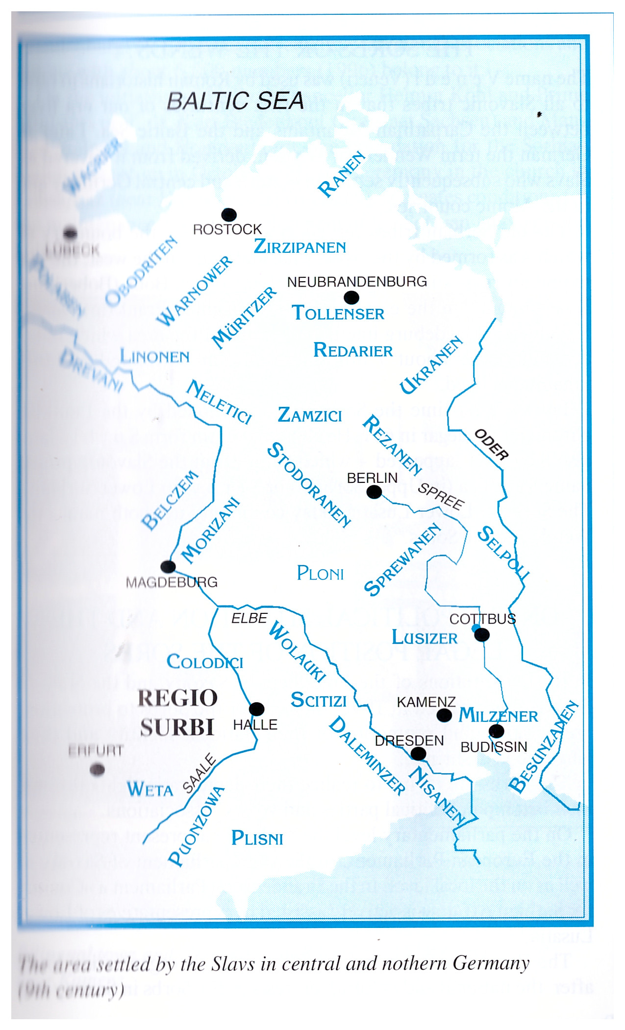Област коју су настањивали Словени у централној и северној Немачкој у 19. веку