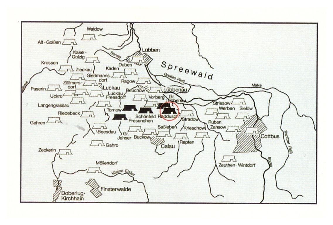 Mapa srpskih tvrđava u Blatu