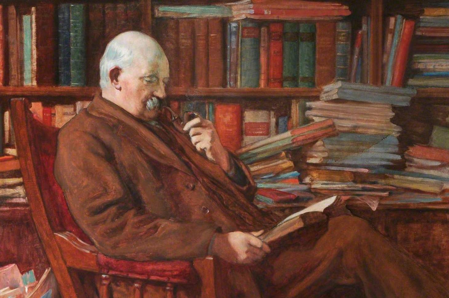"""Кристофер Вилијамс, """"Велечасни Томас Шенкленд, велшки библиотекар"""", 1923. (Фото: Wikioo)"""