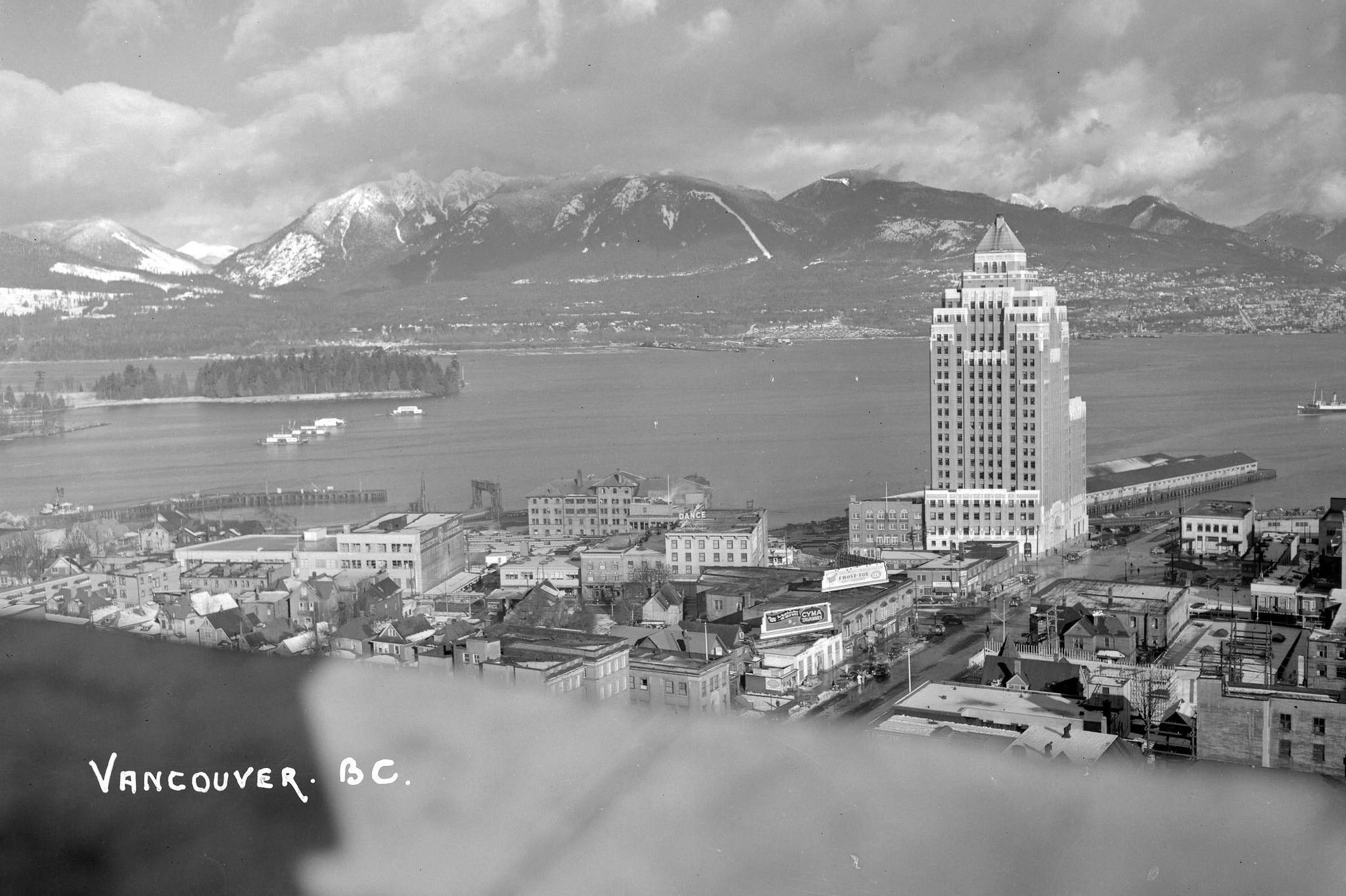Панорама Ванкувера 1940-их година (Фото: flickr.com)