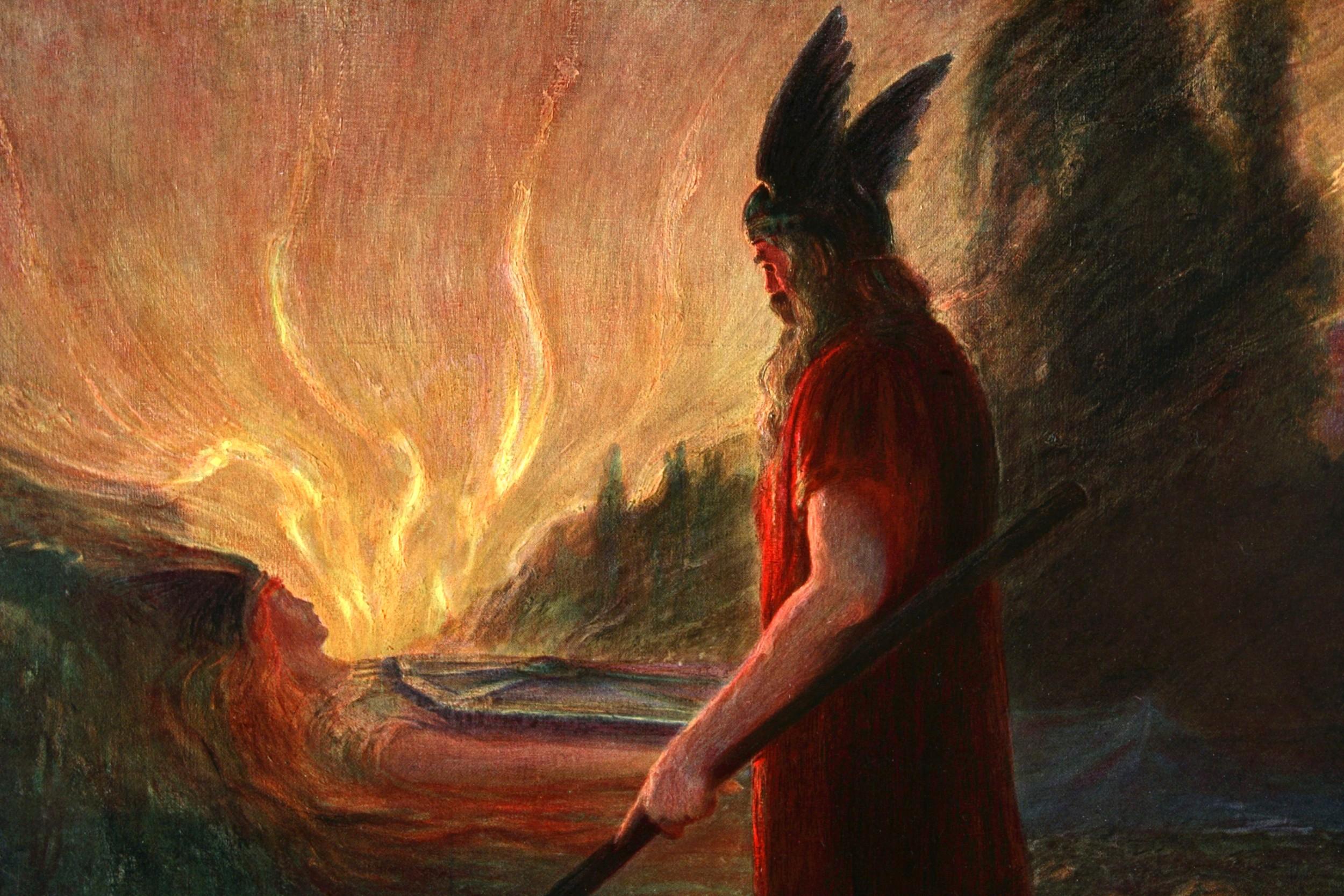 "Herman Hendrih, ""Dok se plamen podiže, Votan odlazi"", 1909. (Foto: Heritage Images/Getty Images)"