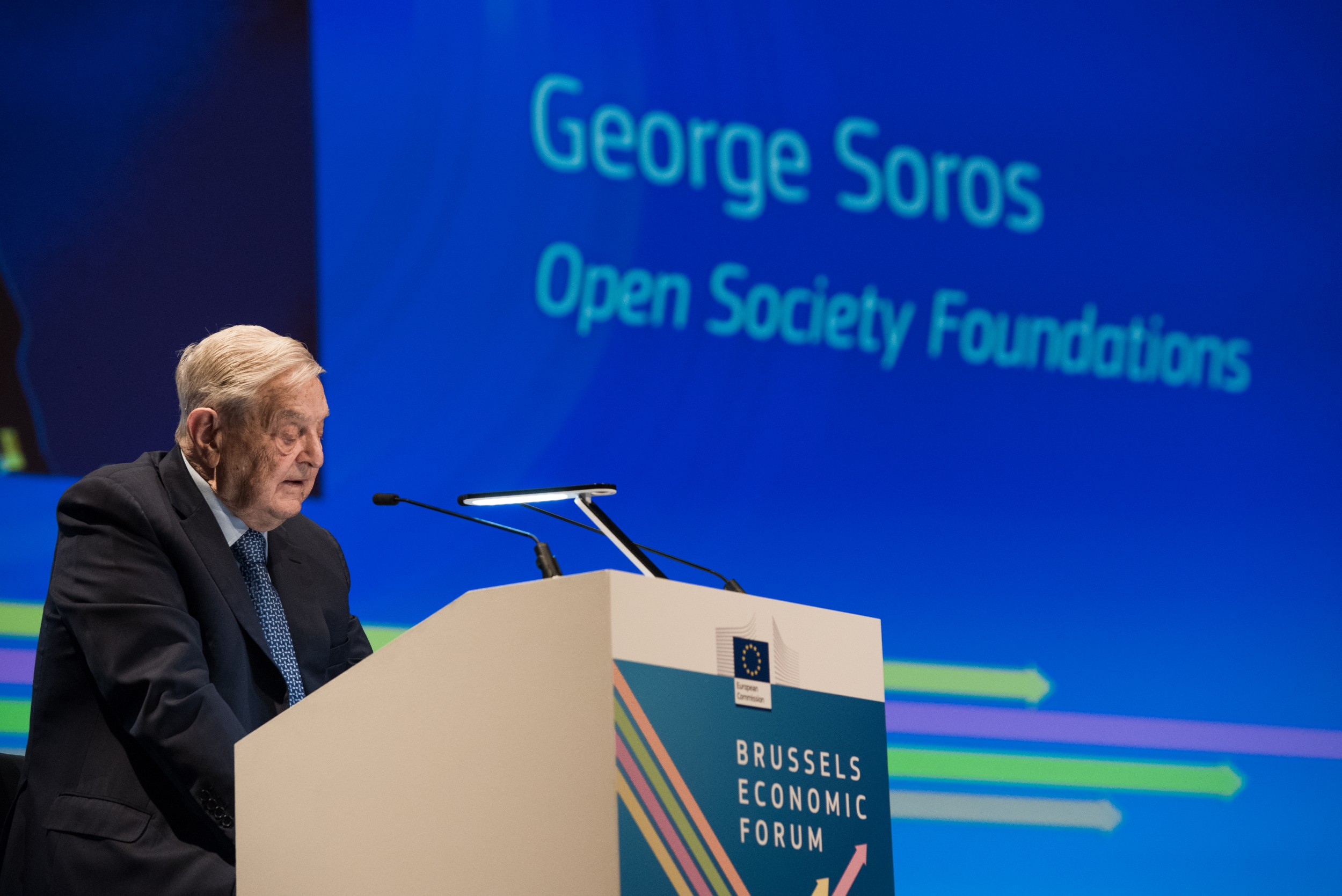 Džordž Soroš, osnivač i predsednik Fonda za otvoreno društvo govori na Briselskom ekonomskom forumu, 01. jun 2017. (Foto: European Commission)