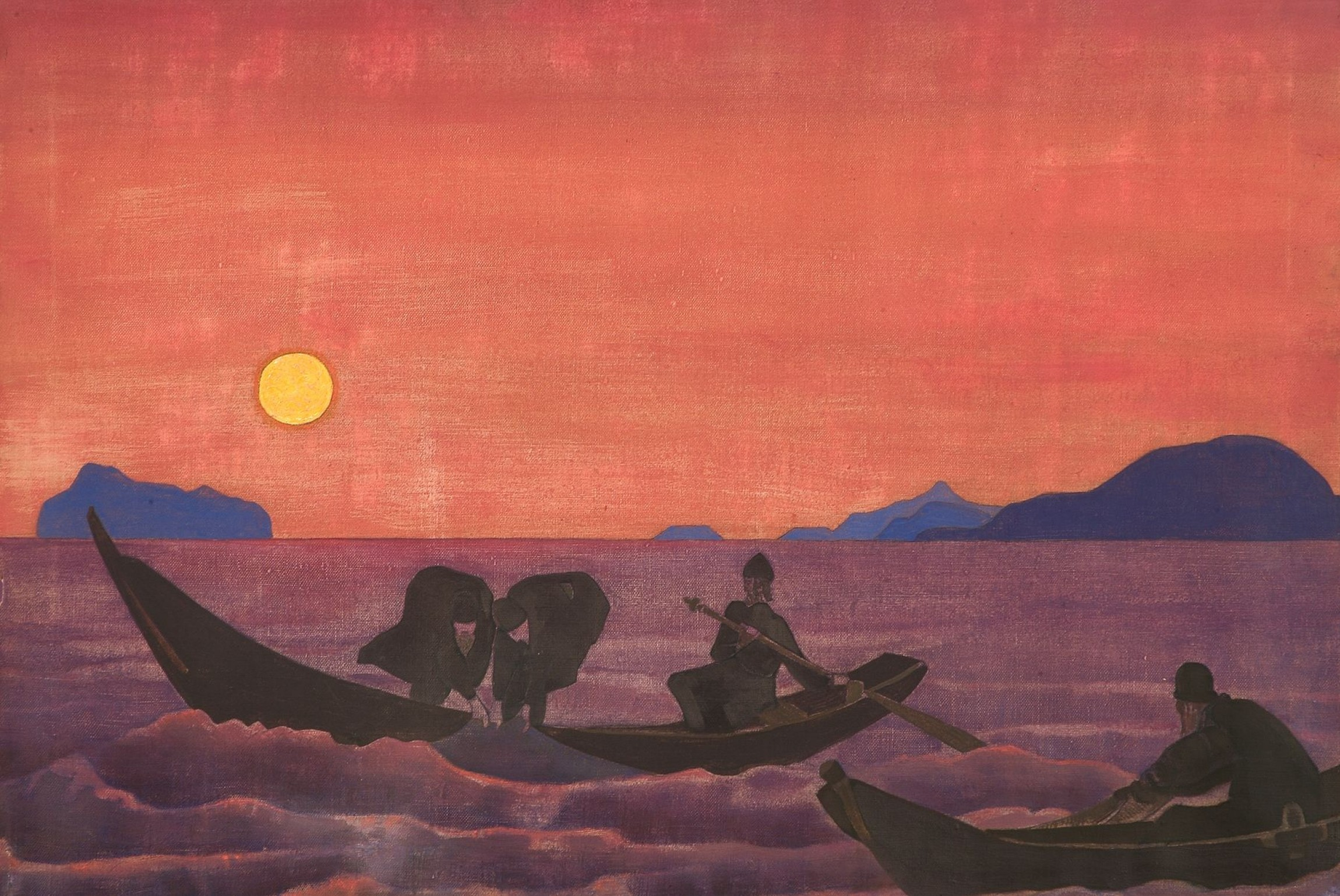 """""""I mi n""""I mi nastavljamo da ribarimo"""" (Nikolaj Rerih, tempera na platnu, 1922, Muzej Nikolaja Reriha, Njujork) (Foto: arthive.com)astavljamo da ribarimo"""" (Nikolaj Rerih, tempera na platnu, 1922, Muzej Nikolaja Reriha, Njujork)"""