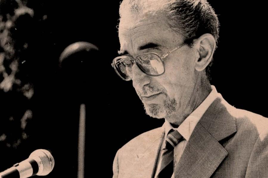 Борислав Пекић при додели Горанове награде, Луковдол, 1989. године (Фото: Снимак екрана)