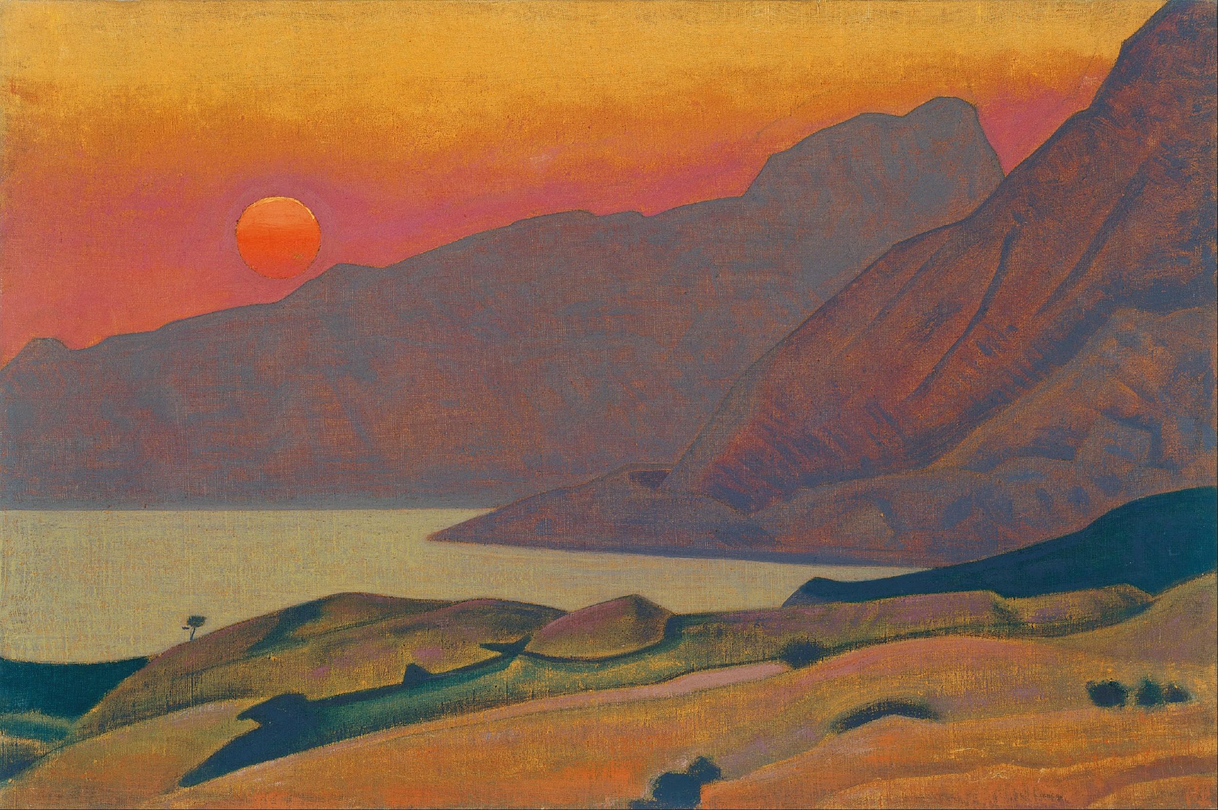 """""""Monhegan, Mejn"""" (Nikolaj Rerih, tempera na platnu, 1922, Muzej Internacionalnog centra Nikolaj Rerih, Moskva) (Foto: Wikipedia)"""
