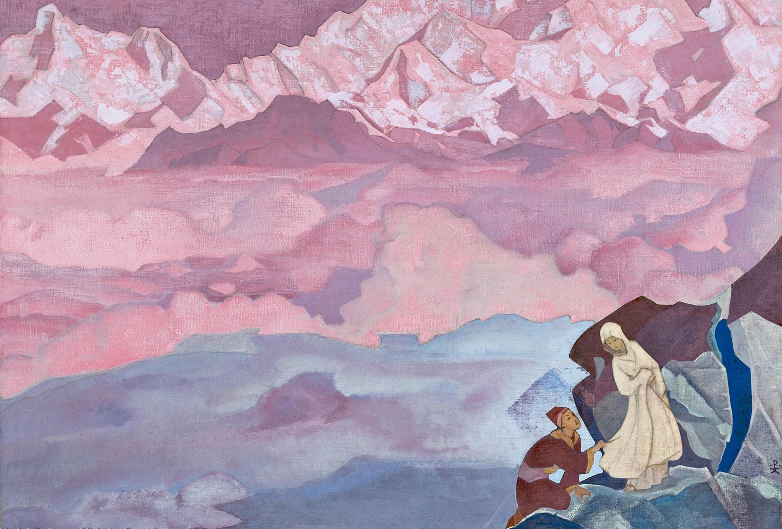 """""""Ona koja vodi"""" (Nikolaj Rerih, tempera na platnu, 1943, Muzej Internacionalnog centra Nikolaj Rerih, Moskva) (Foto: artsdot.com)"""