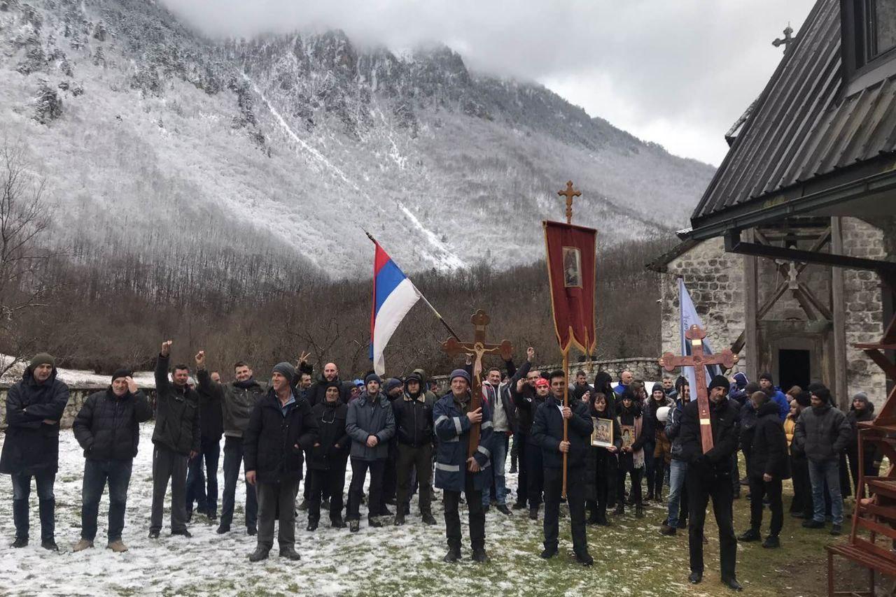 Litija u Mojkovcu, 20. februar 2020. (Foto: IN4S/mitropolija.com)