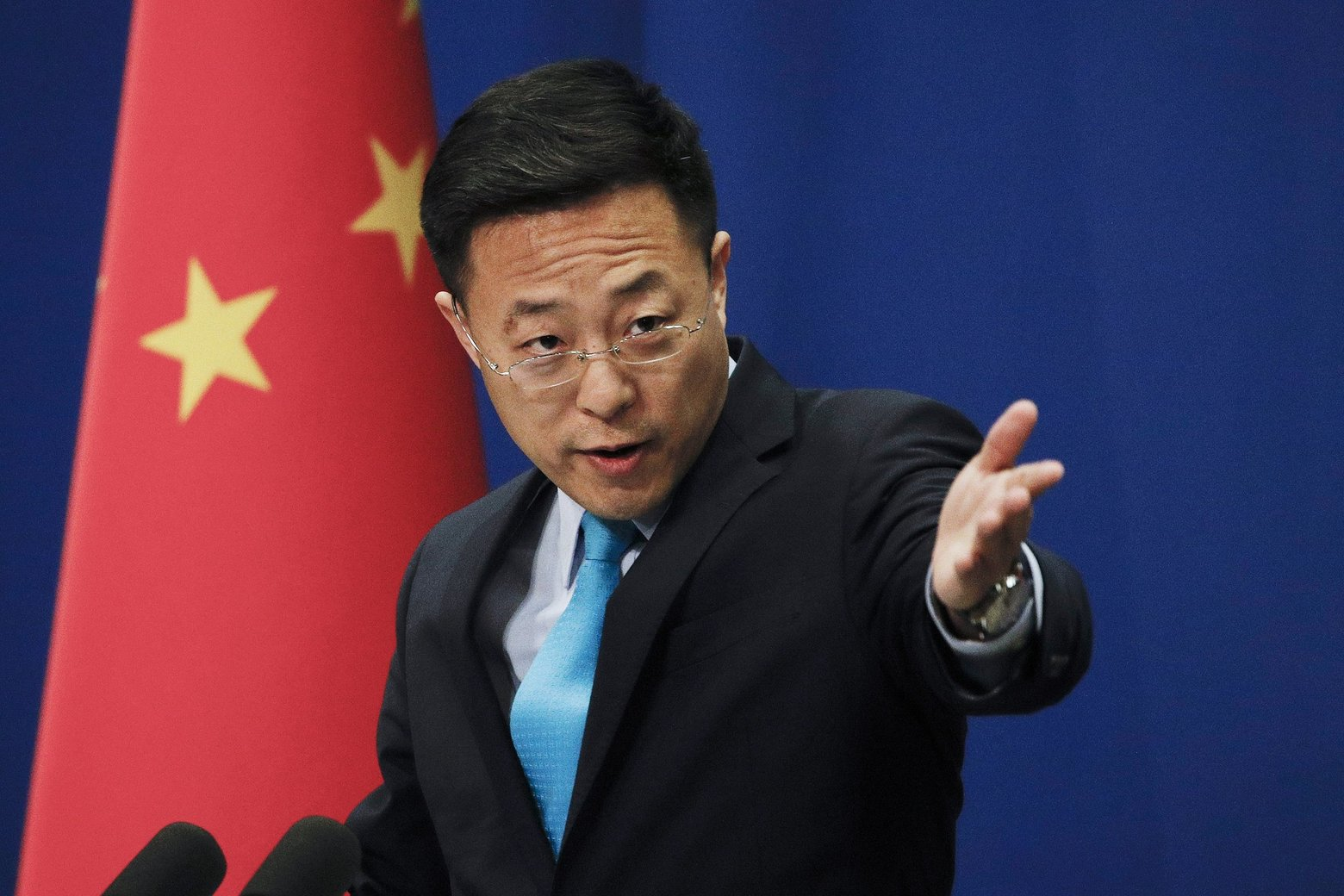 Portparol Ministarstva spoljnih poslova Kine Džao Liđijan (Foto: Andy Wong/The Associated Press)