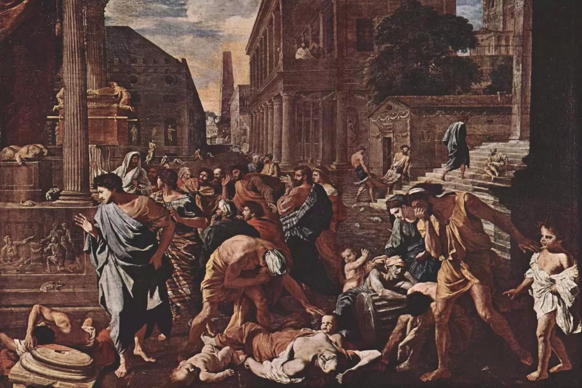 Приказ Антонинијеве куге у Римском царству од од 165. до 180. године