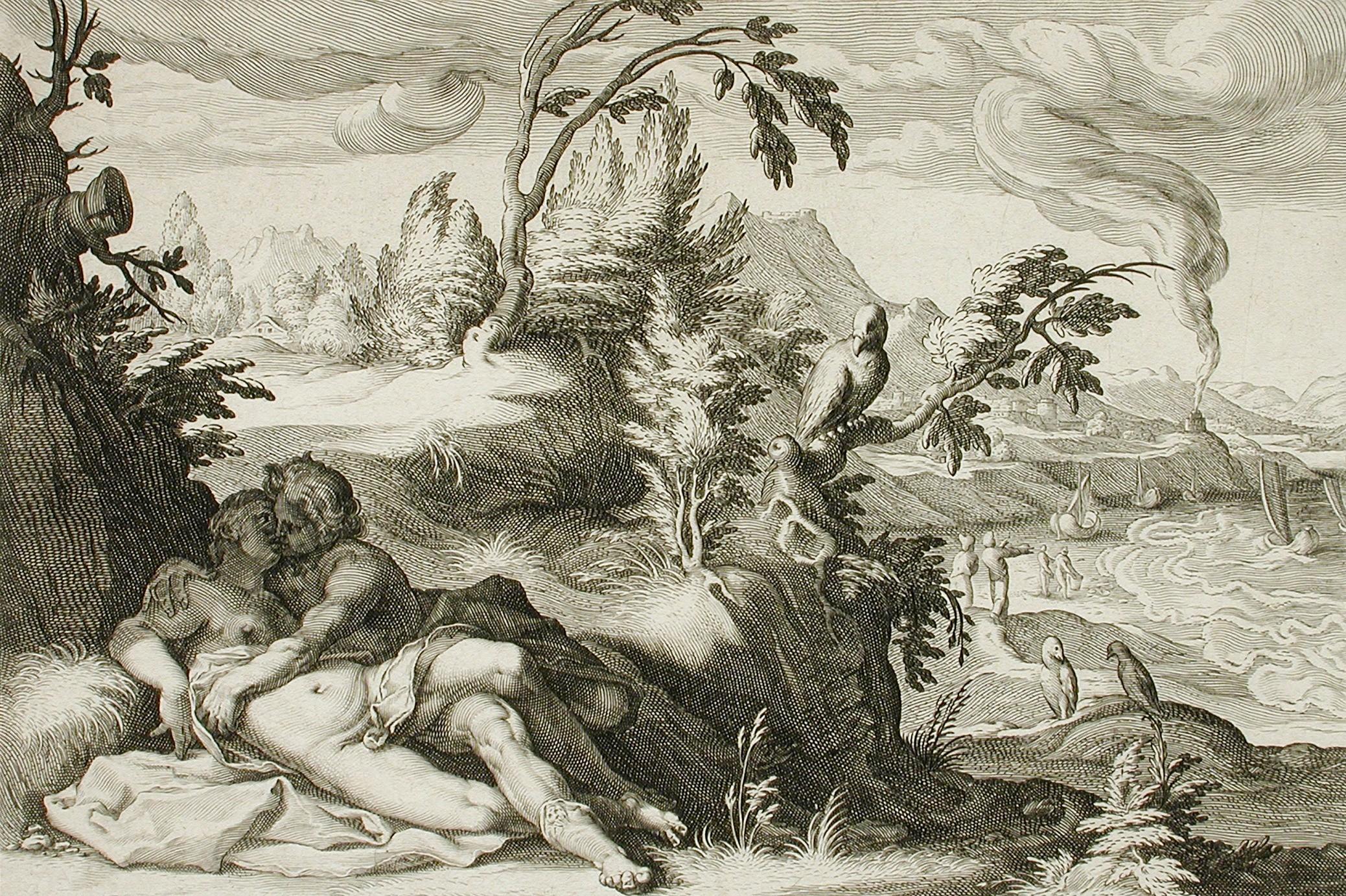 """Hendrik Golcijus """"Apolon i Koronis"""", 1590. (Foto: Wikipedia)"""