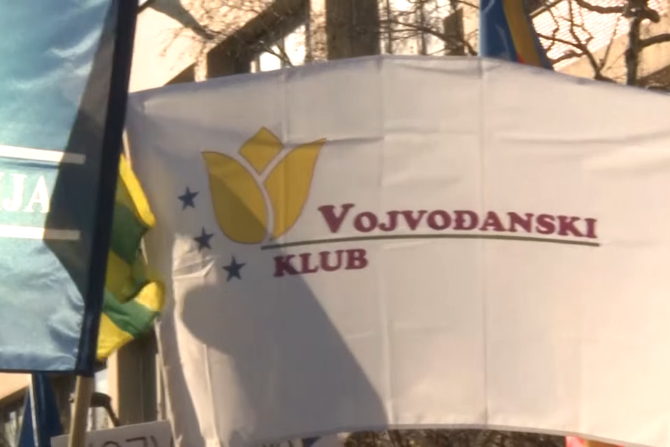 Zastava Vojvođanskog kluba (Foto: Snimak ekrana/Jutjub)