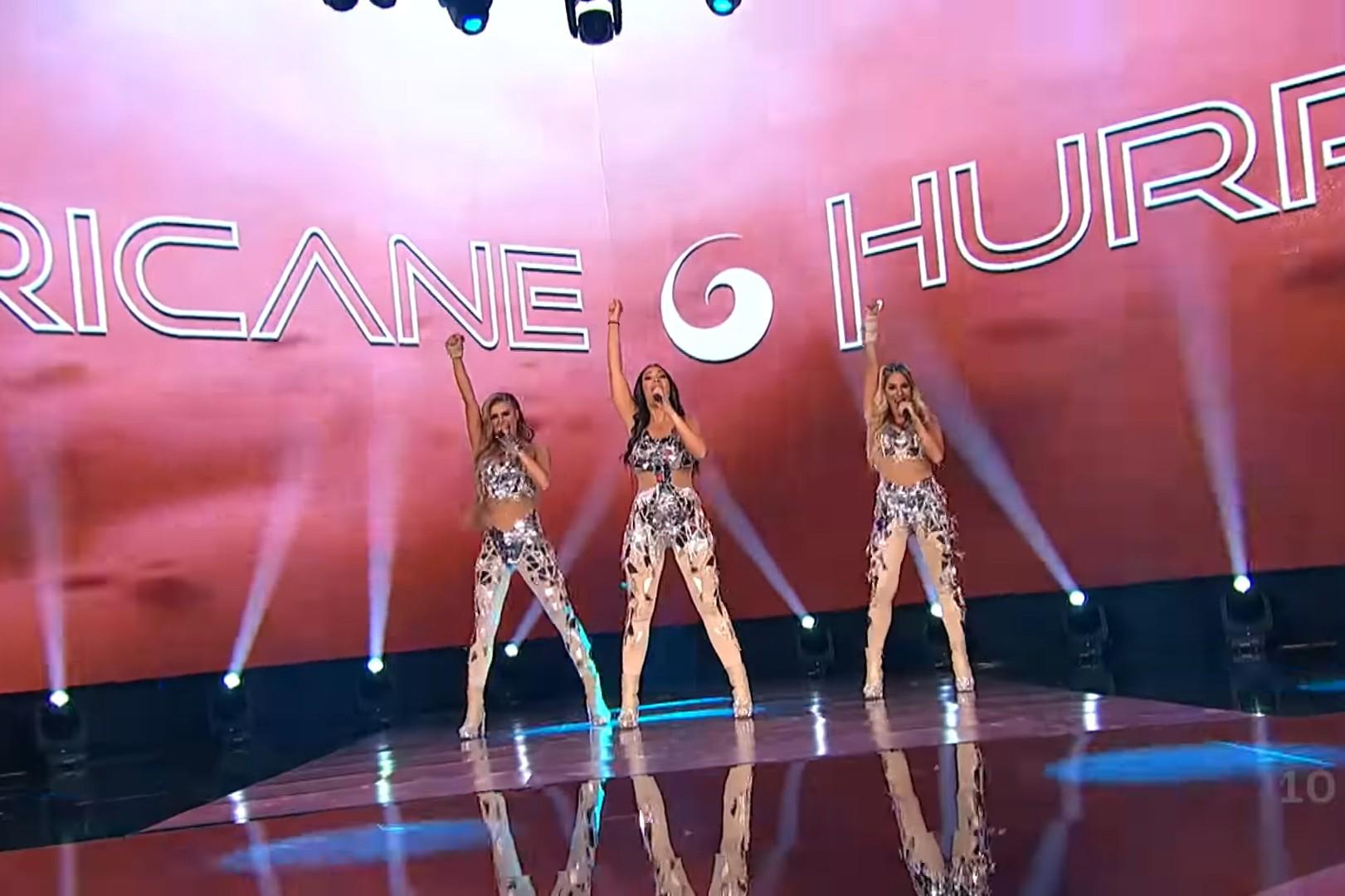 """Muzički sastav """"Hurricane"""" izvodi pesmu """"Hasta la vista"""" tokom nastupa na drugoj polufinalnoj večeri Beovizije (Foto: Snimak ekrana/Jutjub)"""