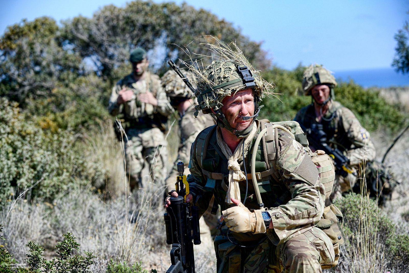 Британски војници током војне вежбе на Кипру, 30. април 2014. (Фото: Cpl Si Longworth RLC/flickr.com)