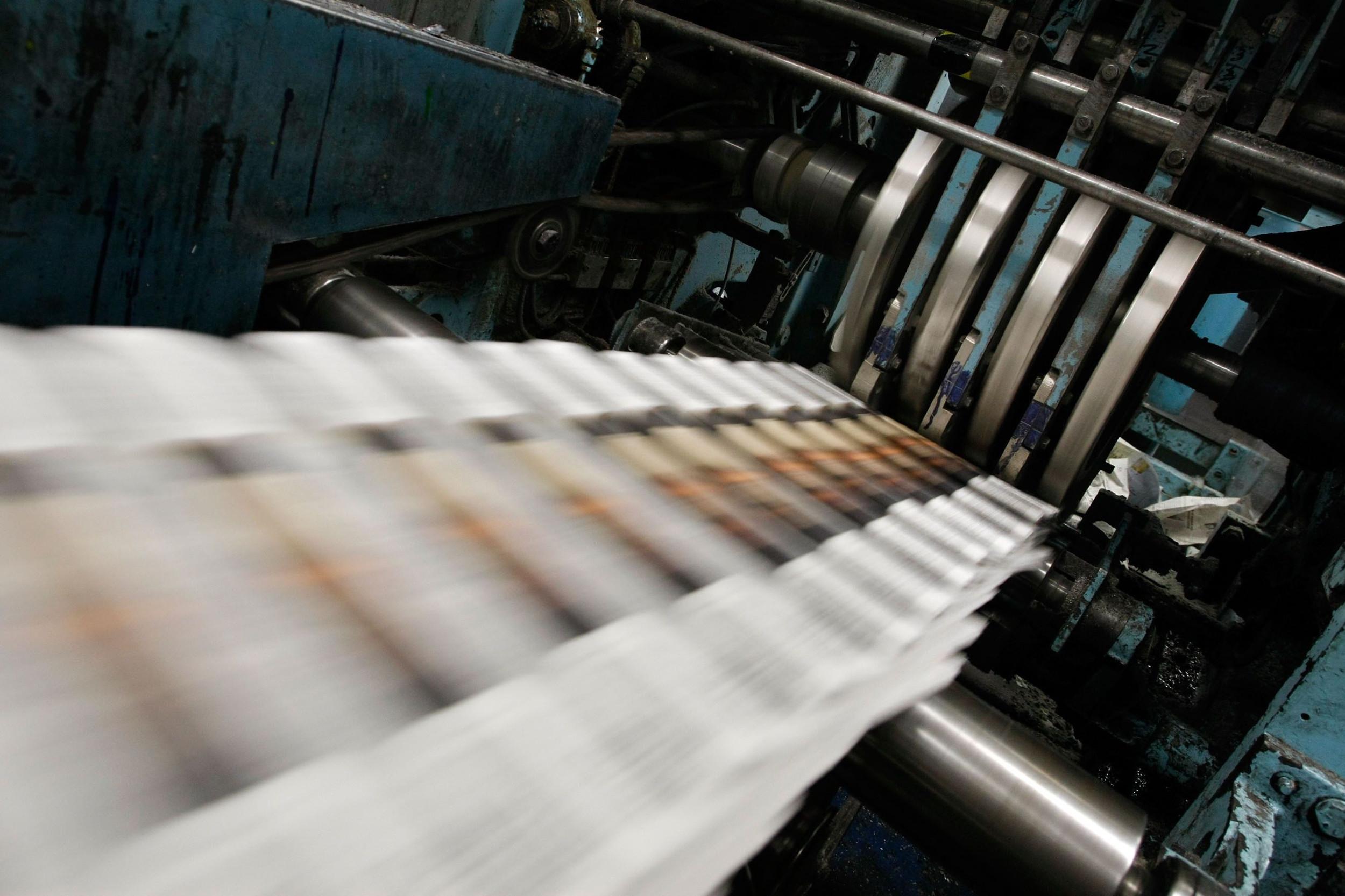 Процес штампања дневних новина (Фото: Getty Images)