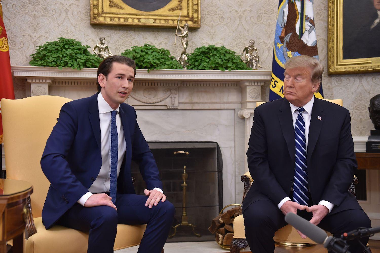 Аустријски канцелар Себастијан Курц на састанку са америчким председником Доналдом Трампом у Белој кући, Вашингтон, 20. фебруар 2019. (Фото:  Nicholas Kamm/AFP/Getty Images)