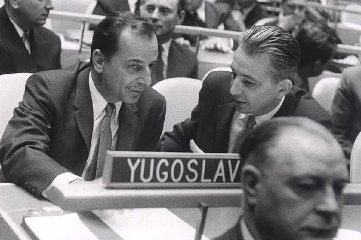 Koča Popović kao ministar spoljnih poslova SFRJ