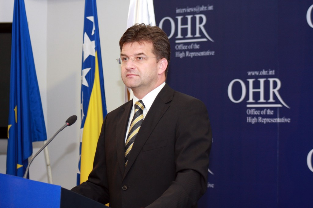 Miroslav Lajčak kao Visoki predstavnik za BiH na konferenciji za medije, Sarajevo, 25. jun 2008. (Foto: ohr.int)
