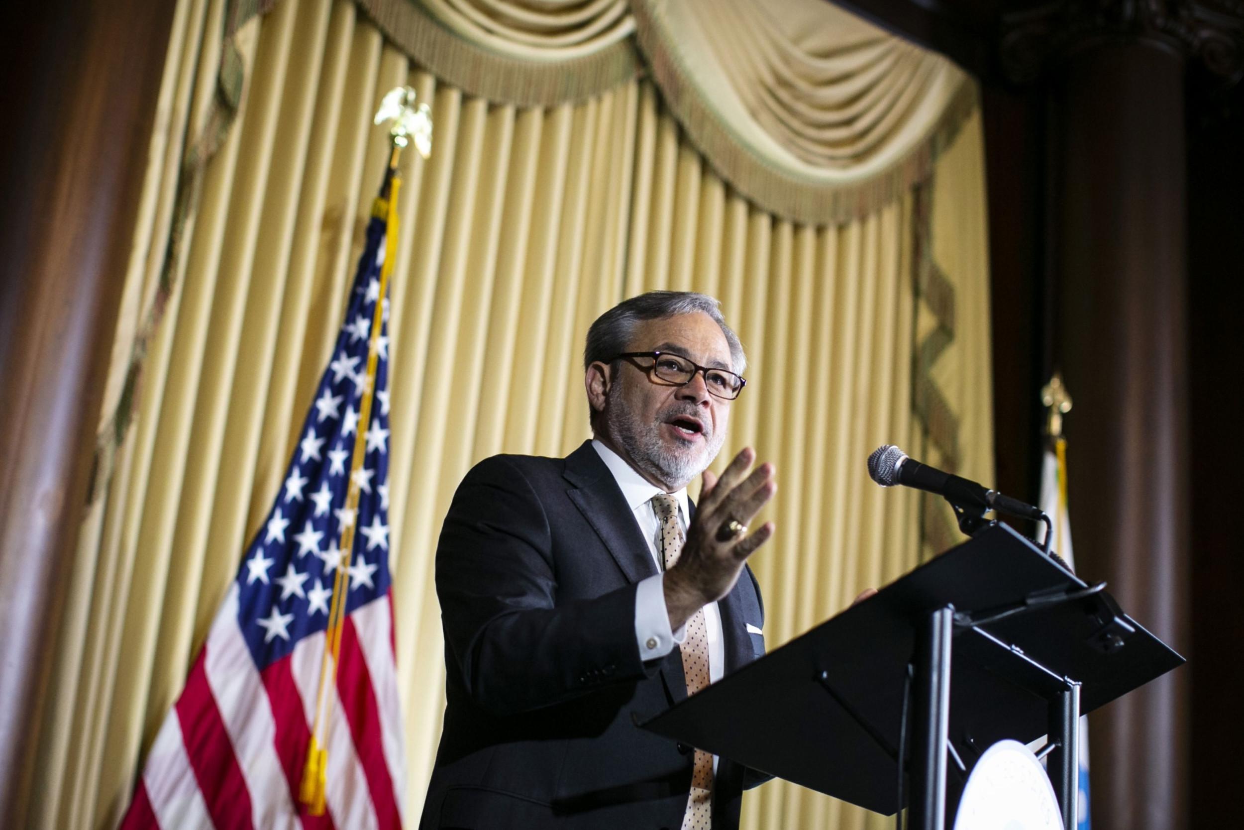 Den Brulet, američki ministar energetike, govori na skupu u sedištu Agencije za zaštitu životne sredine (EPA) u Vašingtonu (Foto: Al Drago/Bloomberg)