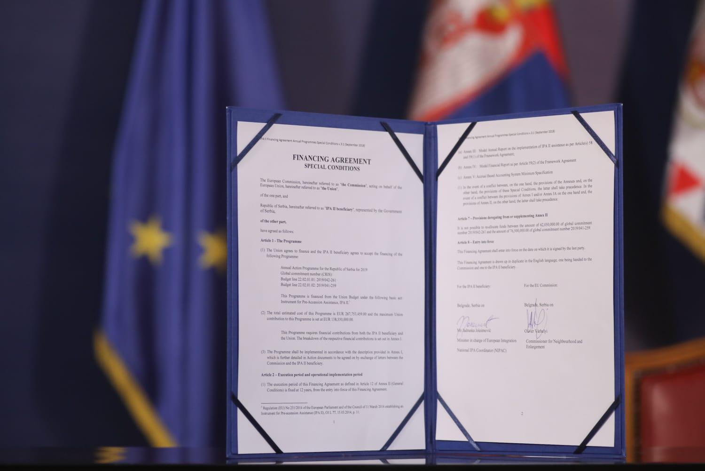 Споразум о финансирању потписан између Европске уније и Владе Републике Србије, 06. фебруар 2020. (Фото: europa.rs)