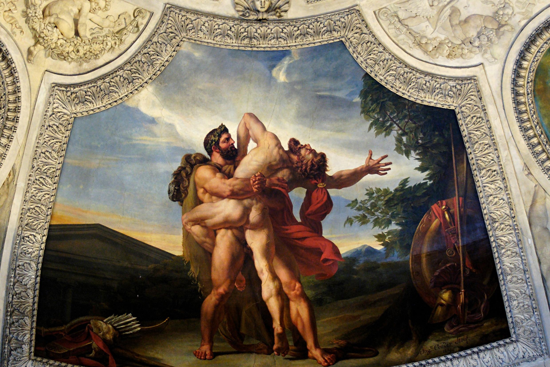 "Ogist Kuder, ""Zemlja, ili borba Heraklea i Anteja"", 1819. (ilustracija iz muzeja Luvr u Parizu) (Foto: Marie-Lan Nguyen/Wikimedia Commons)"
