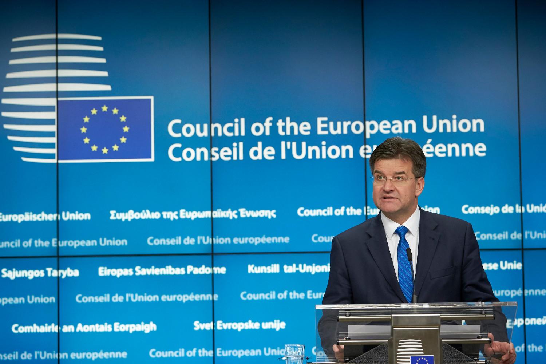 Specijalni predstavnik EU za dijalog Beograda i Prištine Miroslav na konferenciji za medije u sedištu Saveta EU u Briselu (Foto: European Union)