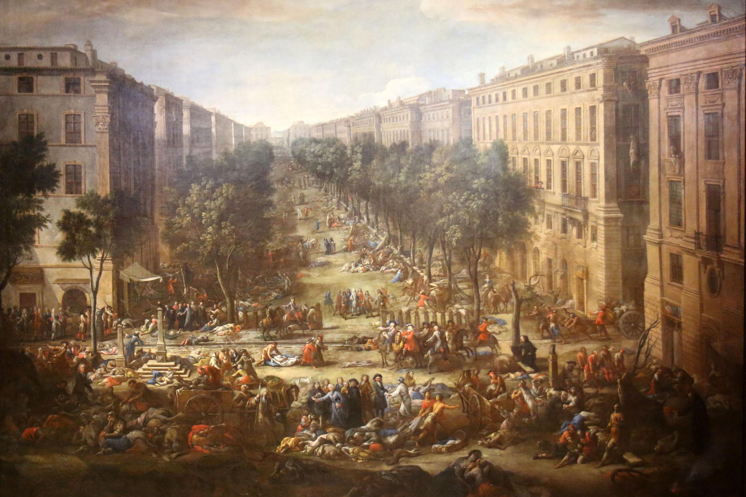 """Pogled na ulice Marseja tokom kuge 1720."", Mišel Ser (Foto: Wikimedia)"