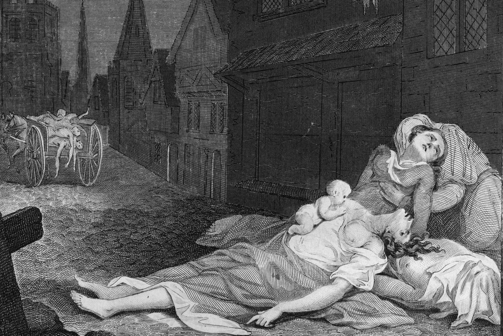 Mrtvi ljudi na ulicama Londona tokom Velike kuge 1665. (Foto: Getty Images)