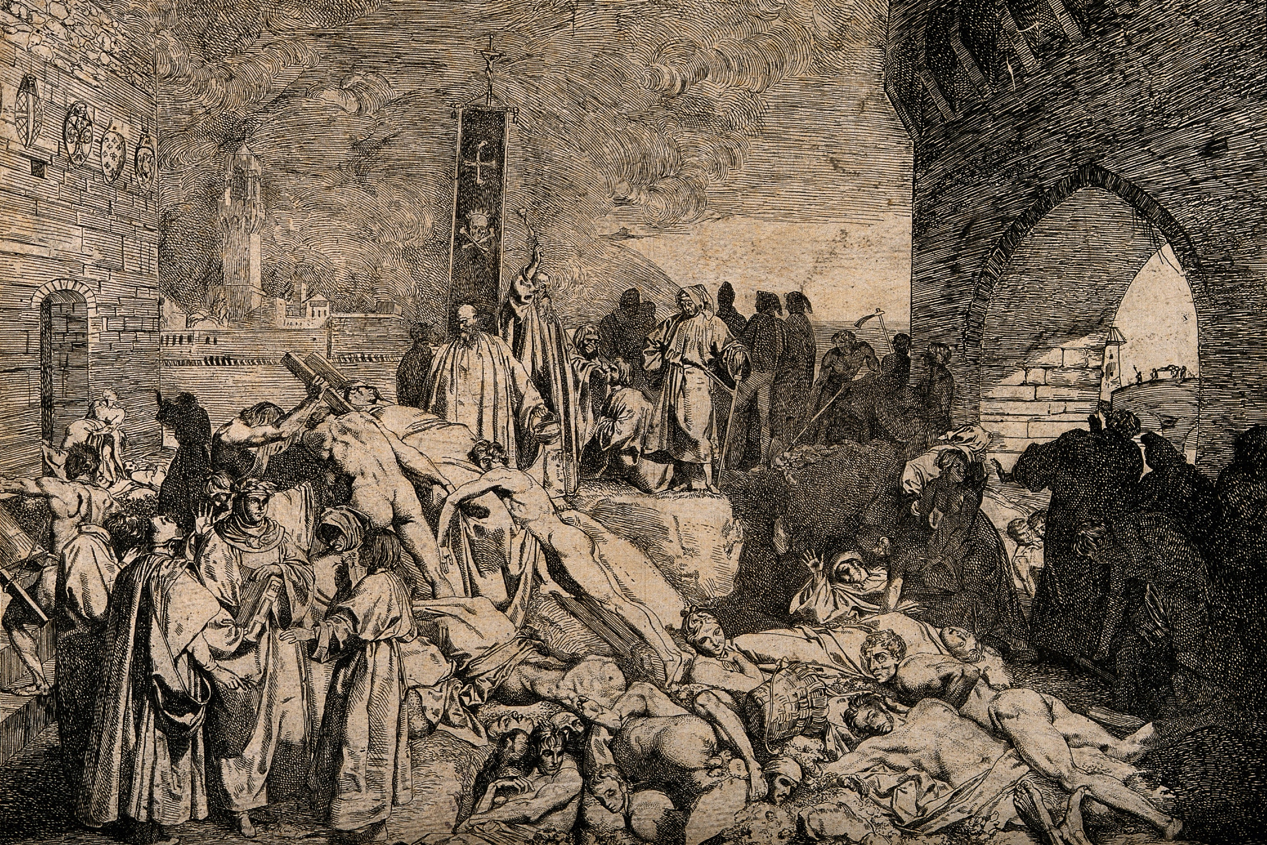 """""""Kuga u Firenci 1348."""", prikaz iz Bokačovog """"Dekamerona"""" (Foto: Wikimedia)"""
