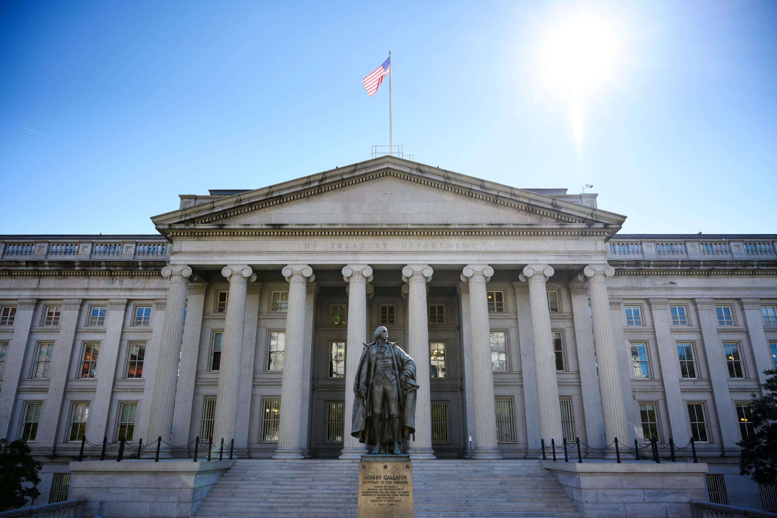 Zgrada američkog Trezora (Ministarstva finansija) u Vašingtonu (Foto: Mandel Ngan/AFP via Getty Images)