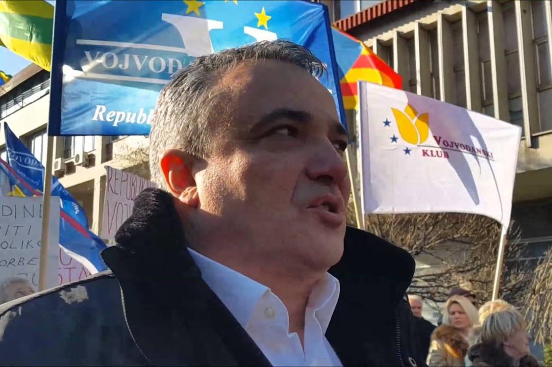 Председник Војвођанске партије Александар Оџић (Фото: Снимак екрана/Јутјуб)