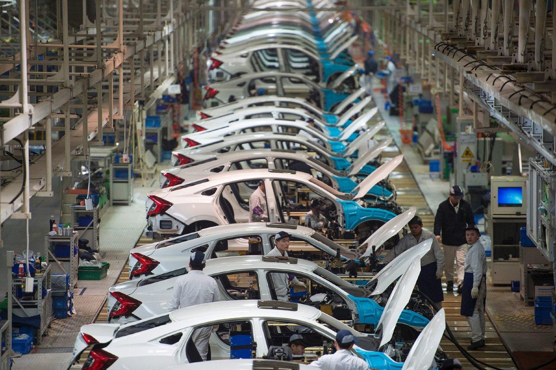 "Proizvodni pogon u ""Hondinoj"" fabrici automobila u Vuhanu (Foto: Agence France-Presse/Getty Images)"