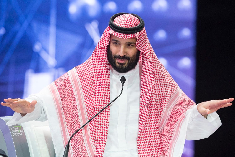 Saudisjki prestolonaslednik Muhamed bin Salman govori na investicionom forumu u Rijadu, 24. oktobar 2018. (Foto: Saudi Royal Court via Reuters)