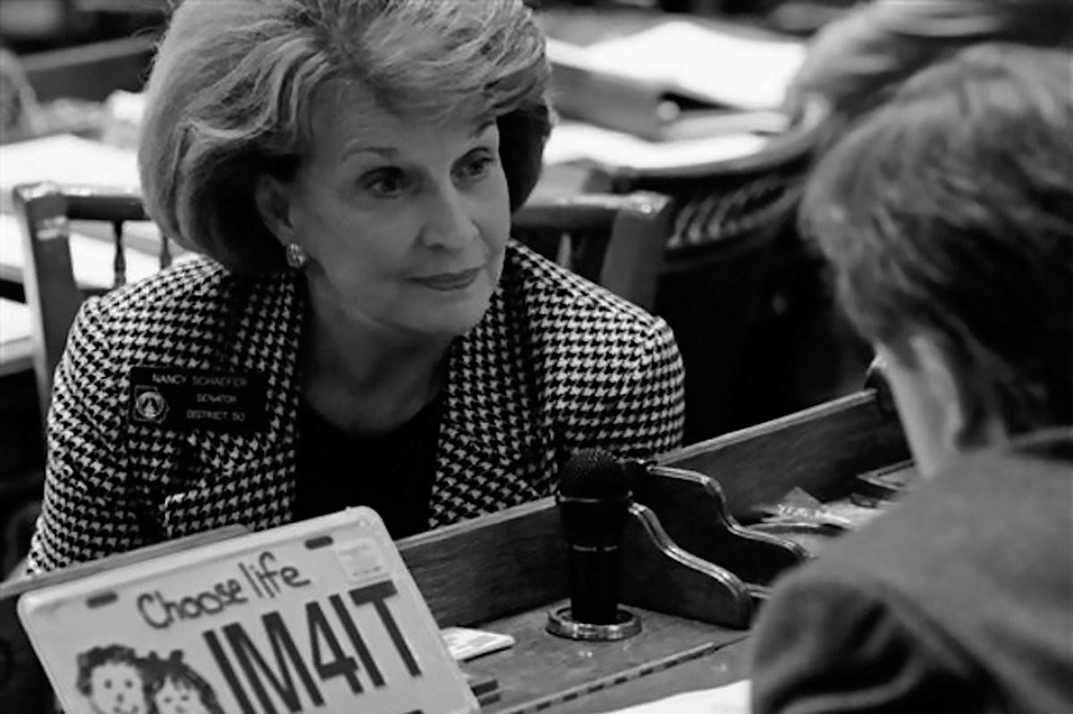 Ненси Шефер као сенаторка Џорџије у Сенату (Фото: Твитер)