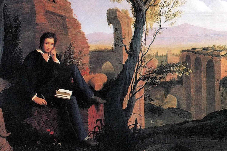"""Džozef Severn, """"Posthumni portret Šelija koji piše 'Oslobođenog Prometeja'"""", 1845. (Foto: Wikimedia)"""