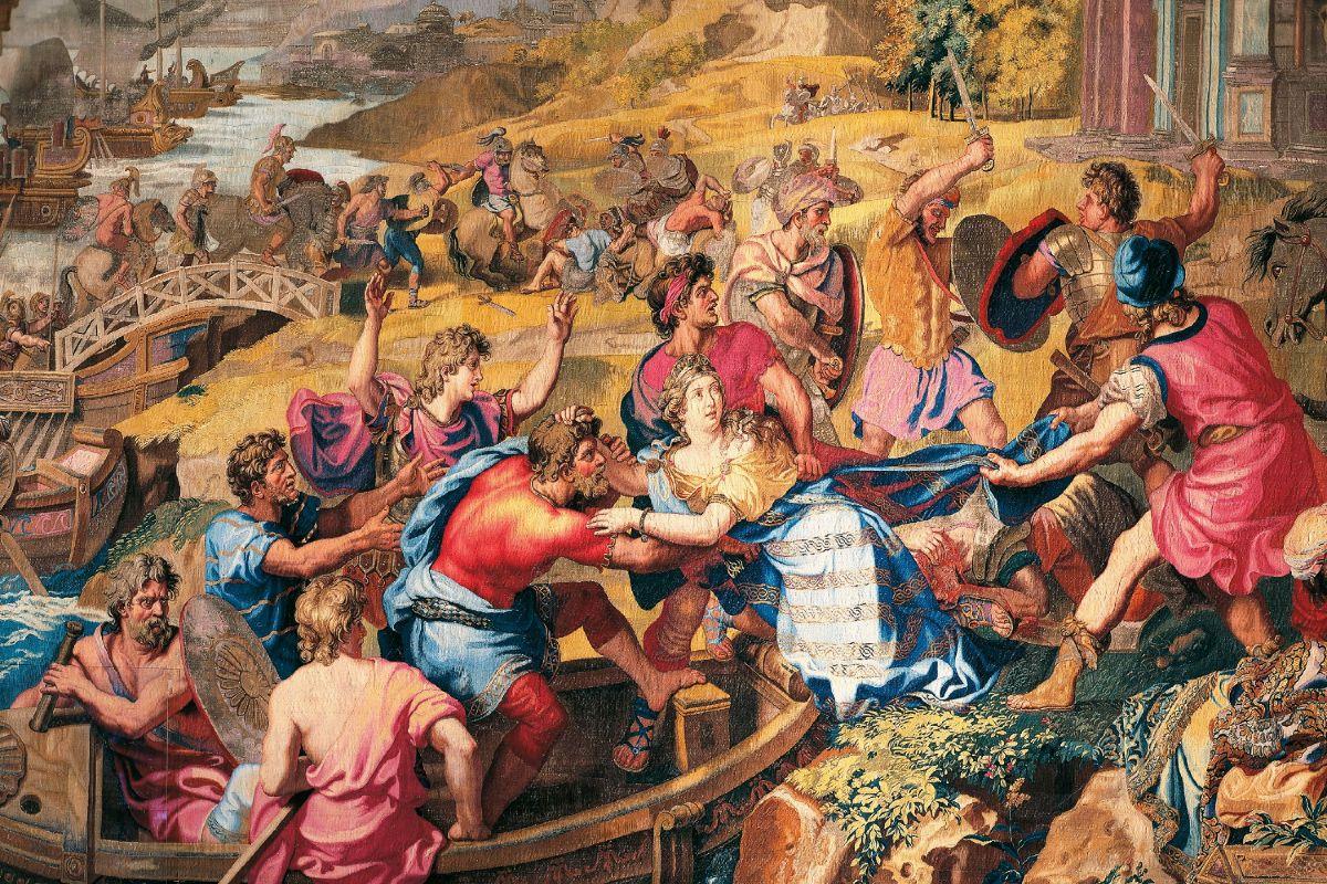 "Tapiserija ""Silovanje Jelene Trojanske"" iz dvora Ševerni u Francuskoj (Foto: De Agostini Picture Library G Dagli Orti Bridgeman Images)"