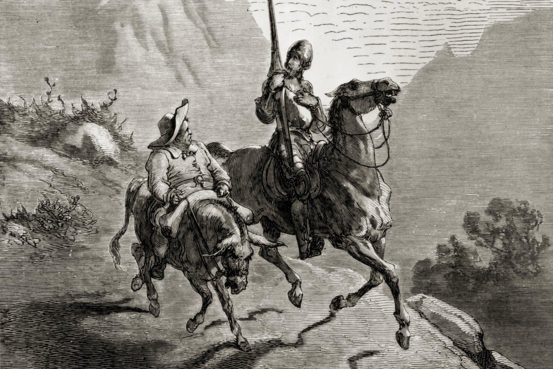 Don Kihot i Sančo Pansa tokom jahanja (gravura) (Foto: Hulton Archive/Getty Images)