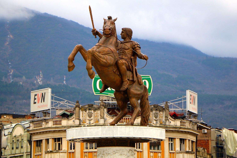 Statua Aleksandra Velikog u Skoplju (Foto: Flickr/Juan Antonio F. Segal)