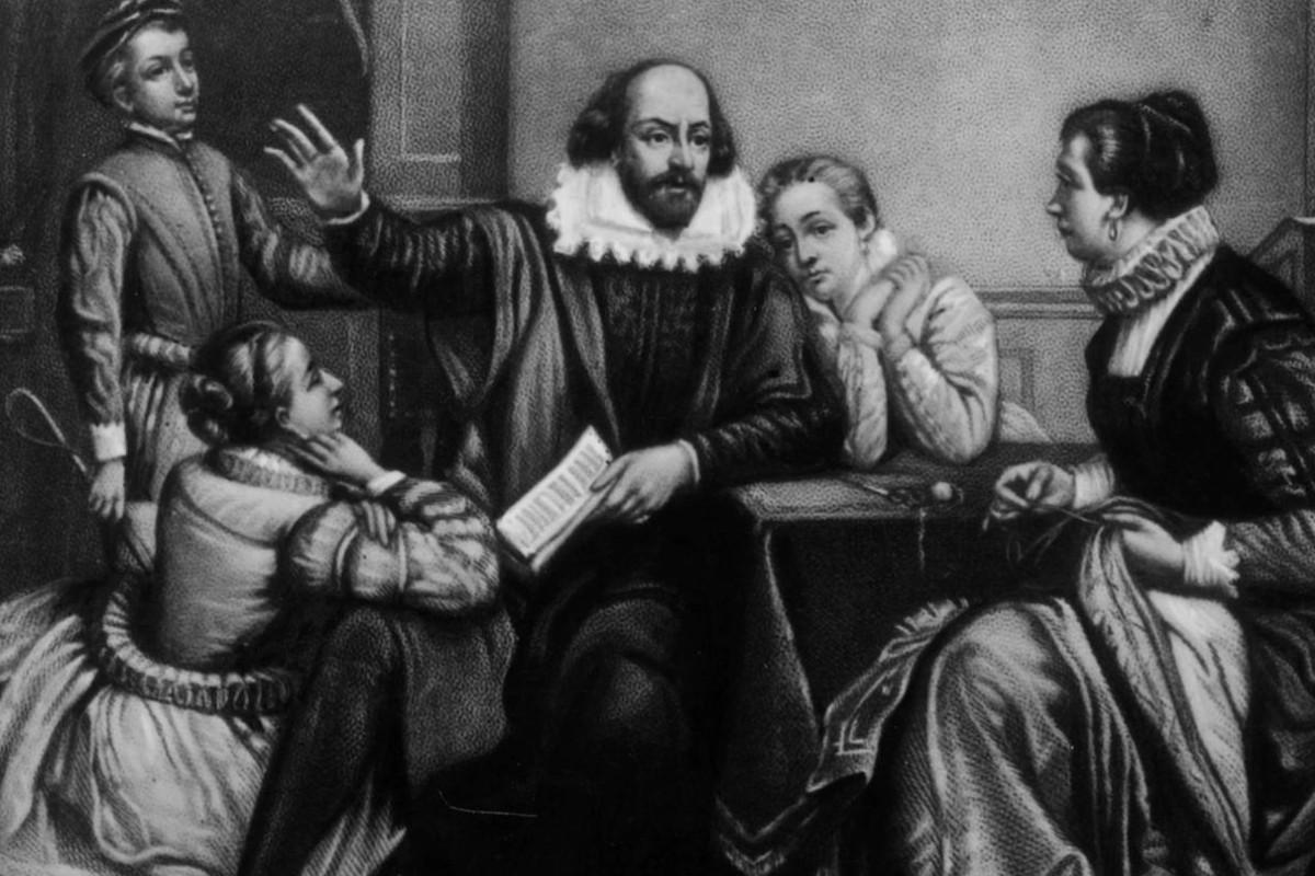Вилијам Шекспир са породицом (Фото: history.com)