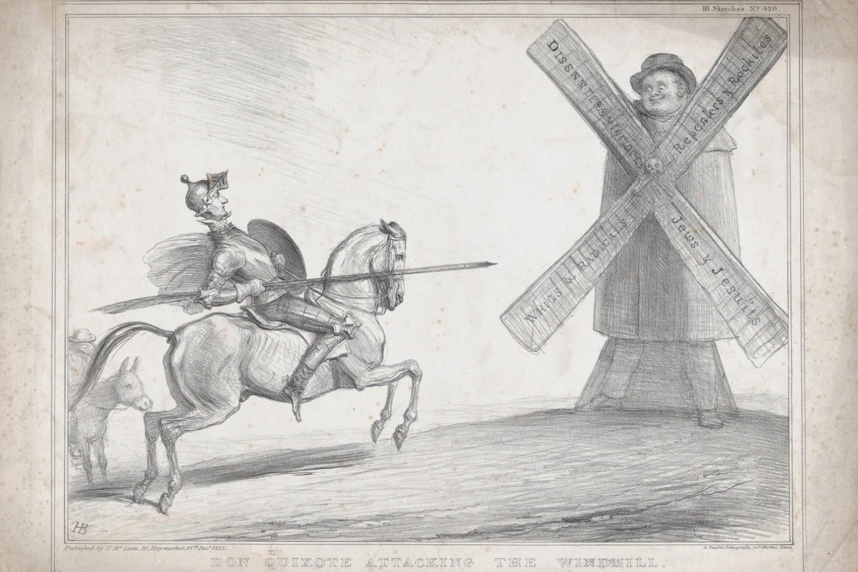 "Džon Dojl, ""Don Kihot napada vetrenjaču"", 1835. (Foto: The Metropolitan Museum of Art/The Elisha Whittelsey Collection, The Elisha Whittelsey Fund, 2014)"