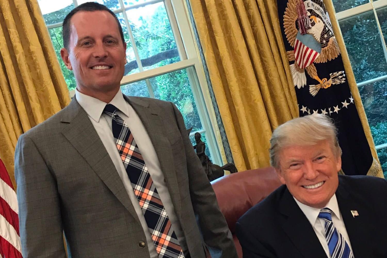 Ričard Grenel i američki predsednik Donald Tramp u Ovalnom kabinetu u Beloj kući (Foto: Tviter)
