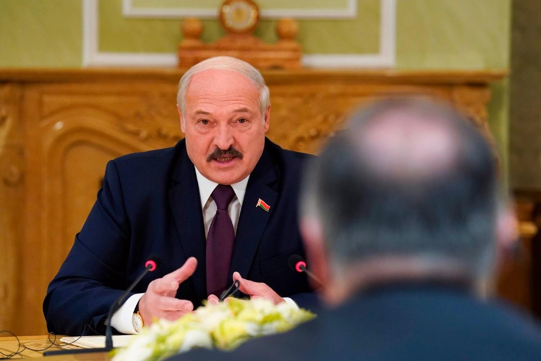 Predsednik Belorusije Aleksandar Lukašenko na sastanku sa američkim državnim sekretarom Majkom Pompeom, Minsk, 01. februar 2020. (Foto: Kevin Lamarque/Pool Photo via AP)