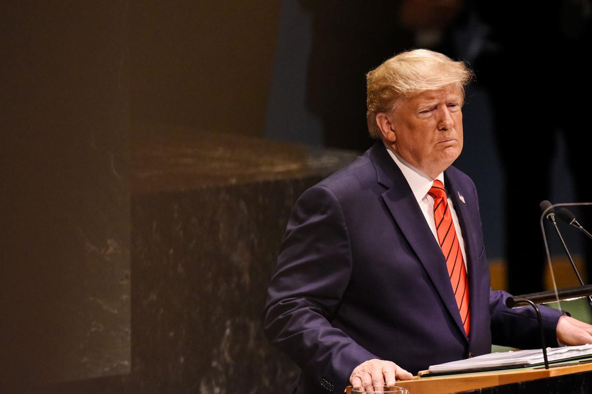 Američki predsednik Donald Tramp za govornicom u sedištu Ujedinjenih nacija u Njujorku (Foto: Stephanie Keith/Getty Images)