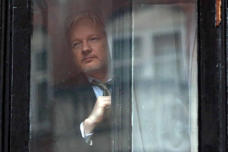 Оснивач Викиликса Џулијан Асанж током боравка у еквадорској амбасади у Лондону, 05. фебруар 2016. (Фото: Carl Court/Getty Images)