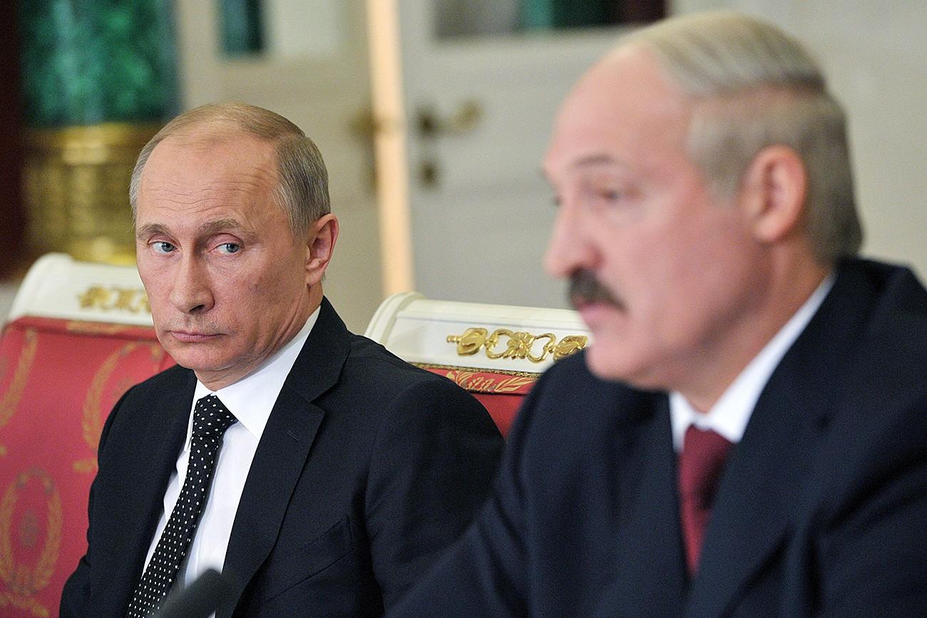 Predsednik Rusije Vladimir Putin na sastanku sa beloruskim predsednikom Aleksandrom Lukašenkom (Foto: RIA Novosti/Alekseй Nikolьskiй)