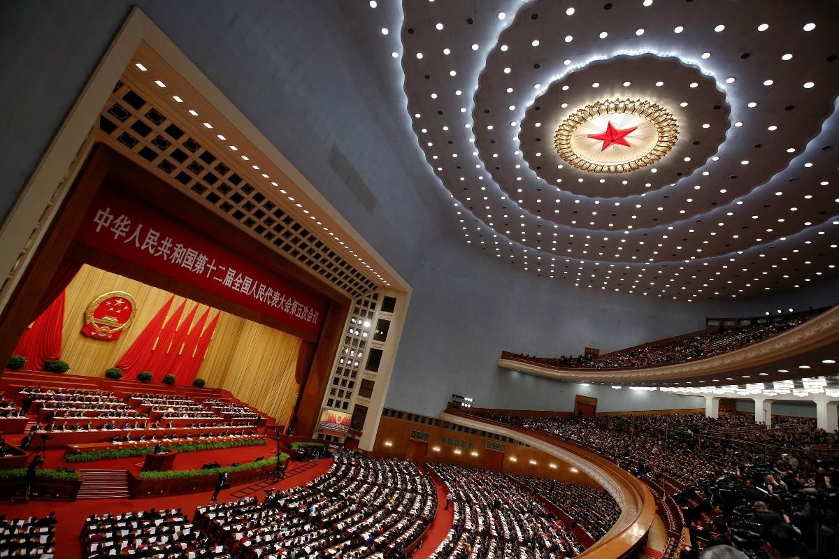 Zasedanje Nacionalnog narodnog kongresa u Velikoj hali naroda u Pekingu (Foto: REUTERS/Thomas Peter)