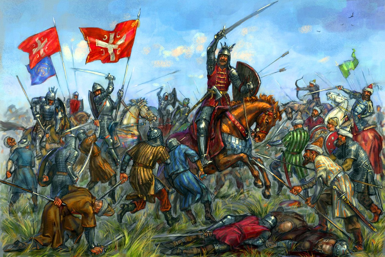 Ilustracija Kosovske bitke na Vidovdan 1389. (Foto: Pinterest)