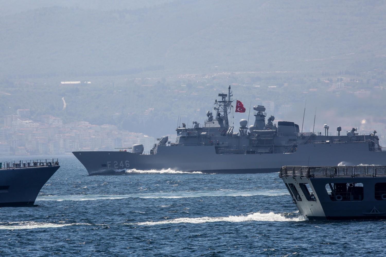 Turske fregate tokom vežbi u Istočnom Mediteranu, 04. maj 2019. (Foto: Sabah File Photo)